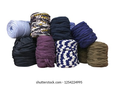 skeins of thread isolated on white background