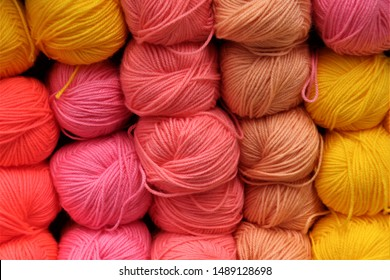 skeins of yarn of different colors