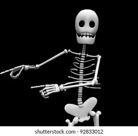 skeleton black background close