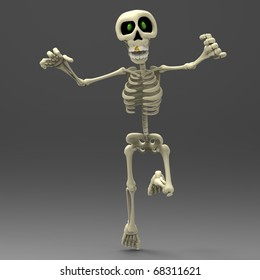 skeleton cartoon is coming