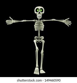 skeleton cartoon wants a hug