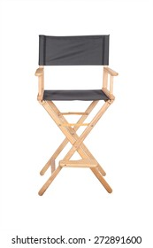 Skeleton in clothes next to the chair filmmaker
