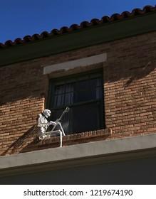 Skeleton as Halloween decoration