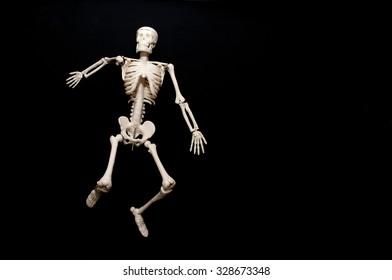 Illustration Skeleton Isolated On Black Background Stock