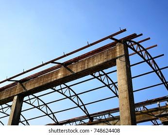 Skeleton of an old building