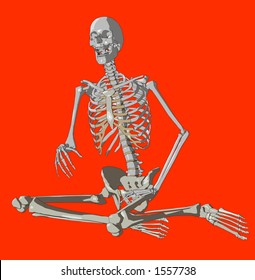 A skeleton in a pose.
