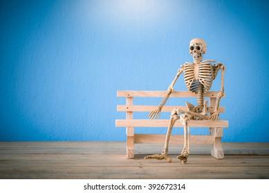 Sitting Skeleton Images, Stock Photos & Vectors | Shutterstock