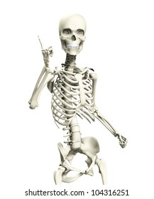 A skeleton that is posed