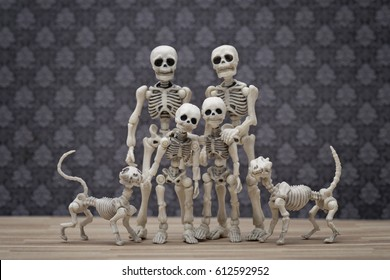 The skeletons family portrait