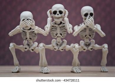Skeletons hear no evil, see no evil, speak no evil