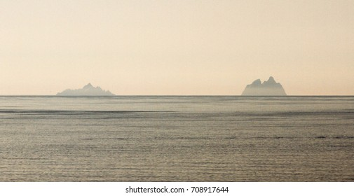 The Skellig Islands, Little Skellig,, left, and Skellig Michael, also known as Great Skellig.