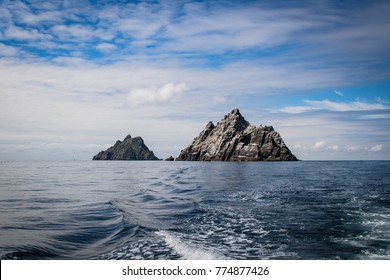 Skellig Islands view from a boat