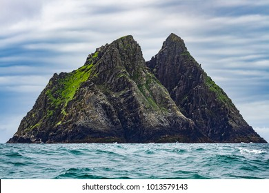 Skellig Michael, island nearby coast of Iveragh peninsula, County Kerry, Ireland, with medieval, early Christian monastery