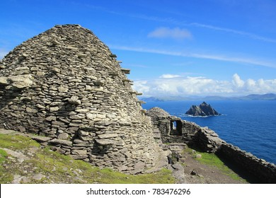 Skellig Michael and little Skellig, County Kerry, Ireland, Europe.