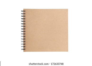 Sketch book isolated on white background
