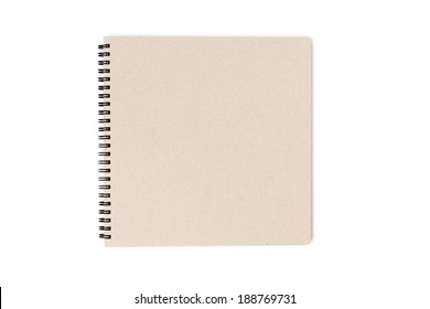 Sketch book isolated on a white background