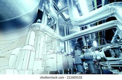 Pipeline Drawing Images, Stock Photos & Vectors | Shutterstock