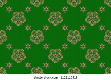 Sketch in orange and green colors. Raster illustration. Vivid repeating - For easy making seamless pattern use it for filling any contours.
