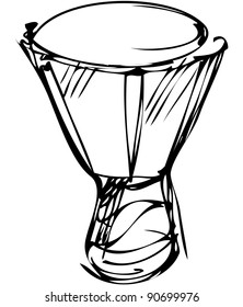 a sketch of percussion instruments a orchestra