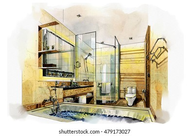 interior designers drawings. Sketch Perspective Interior Design. Sketches Painting To Watercolors. Designers Drawings