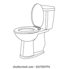 sketch white toilet bowl