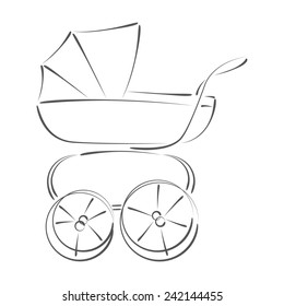 Retro Baby Stroller Images, Stock Photos & Vectors | Shutterstock