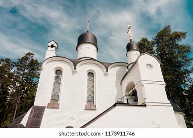 Skete of Smolensky in the Valaam island, Karelia in Russia