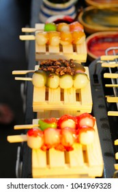 Skewered Rice Cake Balls with Toppings