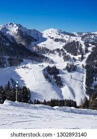 Ski Amade Zauchensee ski area in Salzburg land, Austrian Alps