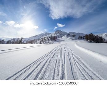 Ski Amade Zauchensee area in Salzburg land, Austrian Alps.