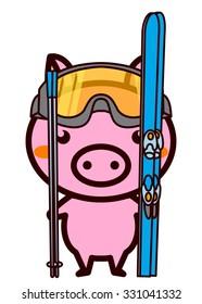 Ski Animal Series