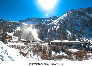 Ski Area at the Sugar-loaf Mountain in the Utah, US