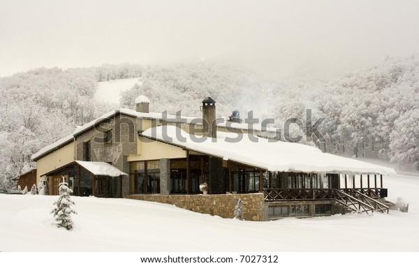 Ski center, Pisoderi, Greece