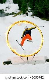 Ski and Fire festival in Whistler, Canada
