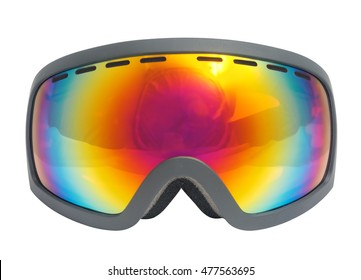 Ski Goggles. Isolated with clipping path.