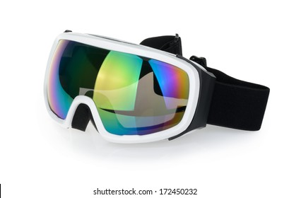 Ski goggles isolated on the white background