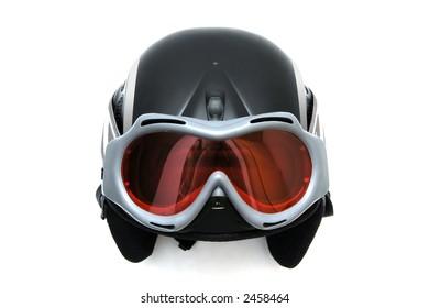 Ski helmet with goggles