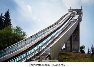 Ski Jump built, Oberhof, Germany