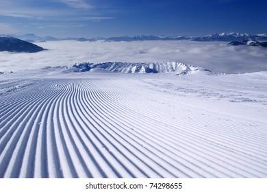Ski jump to nowhere