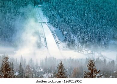 Ski jump in Zakopane. Zakopane, Lesser Poland, Poland.