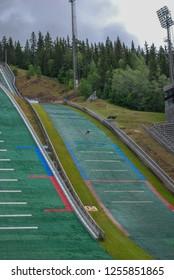 Ski jumping in Norway during Summer, Lysgårdsbakken Lillehammer