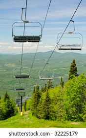 Ski lift at Burke Mountain in Vermont