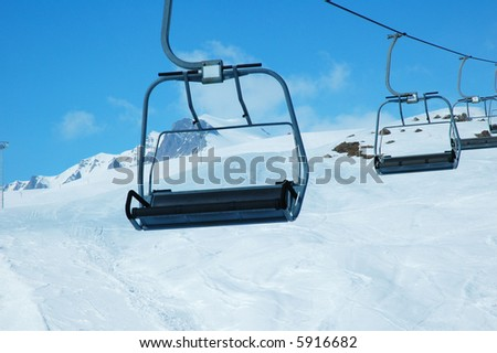 Delicieux Ski Lift Chairs On Bright Winter Day   More Similar Photos In My Portfolio