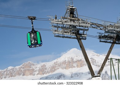 Ski lift in Italian Dolomite
