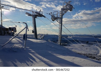 Ski Lift at Luossavaara, Kiruna