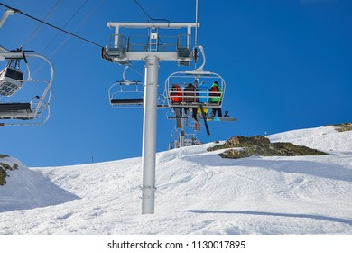 Ski lift on the Alps