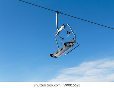 Ski Lift and Ski Resort Winter Season