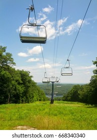 ski lifts in the summer with no snow