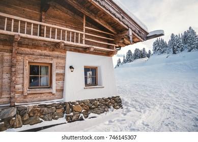 Ski lodge in the Austrian Alps