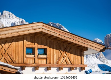 Ski lodge in the Italian Alps